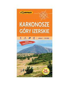 Mapa turystyczna Compass KARKONOSZE i GÓRY IZERSKIE 1:35 000 laminowana