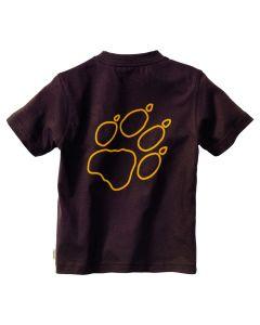 Koszulka dziecięca KIDS OUTLINE PAW T mocca