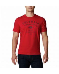T-shirt męski Columbia Path Lake Graphic mountain red
