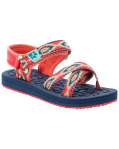 Sandały dla dziewczynki ZULU K red / blue