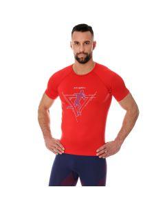 Męska koszulka do biegania Brubeck RUNNING AIR PRO SS13280 red