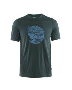 T-shirt Fjallraven Abisko Wool Fox dark navy