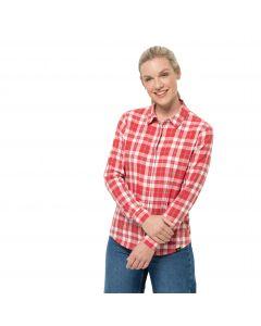 Koszula damska CARSON SHIRT W Coral Red Checks
