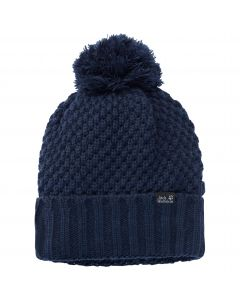 Czapka z pomponem damska HIGHLOFT KNIT CAP WOMEN midnight blue