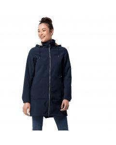 Płaszcz softshell damski WINDY VALLEY COAT W midnight blue