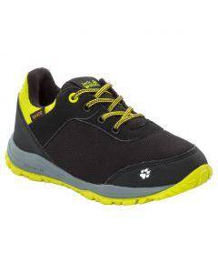 Buty nieprzemakalne dla dzieci KIWI TEXAPORE LOW K black / lime