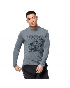 Koszulka z długim rękawem CROSSTRAIL PEAK LONGSLEEVE M storm grey
