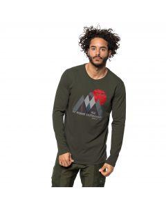 Koszulka męska MOUNTAIN LONGSLEEVE M dark moss