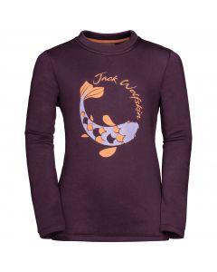 Bluza dla dzieci WINTER SWEATSHIRT KIDS aubergine