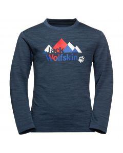 Koszulka z długim rękawem VARGEN LONGSLEEVE KIDS Dark Blue / Red
