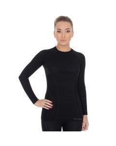 Koszulka termoaktywna Brubeck Active Wool LS12810 black