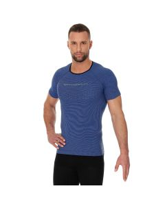 Męska koszulka do biegania Brubeck 3D PRO RUN SS11920 blue