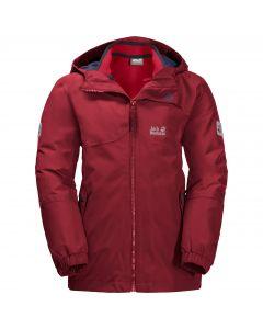 Chłopięca kurtka 3w1 B ICELAND 3IN1 JKT dark lacquer red