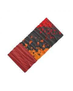 Chusta wielofunkcyjna 4Fun MULTIFUNCTIONAL SCARF 8 in 1 POLARTEC chaos orange