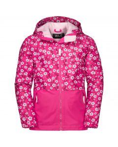 Dziecięca kurtka zimowa SNOWY DAYS PRINT JACKET KIDS pink fuchsia allover