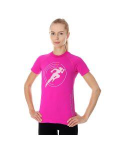 Damska koszulka do biegania Brubeck RUNNING AIR PRO SS13270 amaranth