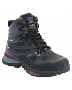 Buty trekkingowe damskie FORCE TREKKER TEXAPORE MID W Black / Pink