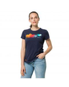 Damska koszulka z krótkim rękawem RAINBOW WOLF T W Graphite
