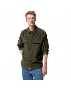 Koszula męska sztruksowa NATURE SHIRT M Bonsai Green
