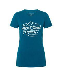 Damska koszulka wspinaczkowa Black Diamond LIVE CLIMB REPEAT TEE night sky