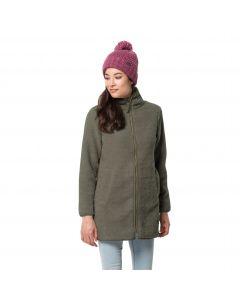 Płaszcz polarowy damski HIGH CLOUD COAT W Grape Leaf