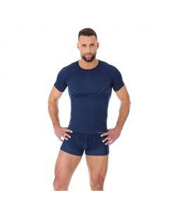 Termoaktywna koszulka męska Brubeck Active Wool SS11710 dark blue