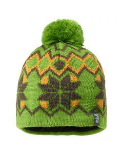 Czapka KIDS NORDIC POMPOM CAP elemental green