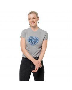 Damska koszulka z krótkim rękawem SEA GROUND T W Light Grey