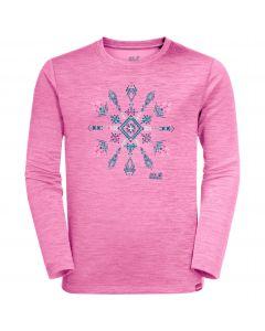 Koszulka dla dzieci VARGEN LONGSLEEVE KIDS brilliant rose