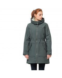 Zimowa parka damska ROCKY POINT PARKA greenish grey