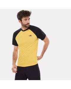 Męska koszulka The North Face Tanken Raglan Tee yellow/black