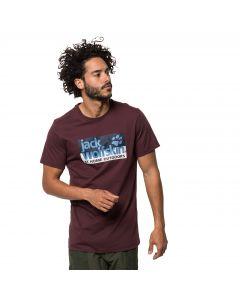 T-shirt męski LOGO T M port wine