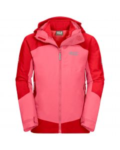 Kurtka dziecięca 3w1 ROPI 3IN1 JACKET KIDS coral pink