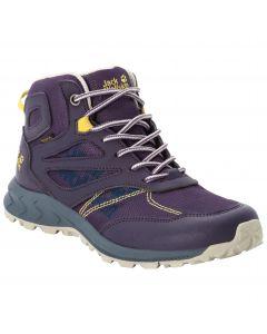 Buty nieprzemakalne dla dzieci WOODLAND TEXAPORE MID K purple / yellow