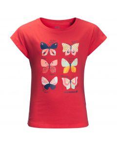 Koszulka dla dziewczynki BUTTERFLY T GIRLS tulip red