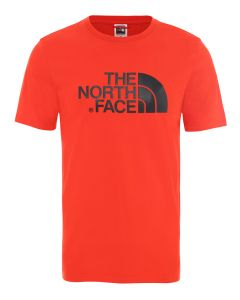 T-shirt męski The North Face S/S EASY TEE fiery red/black