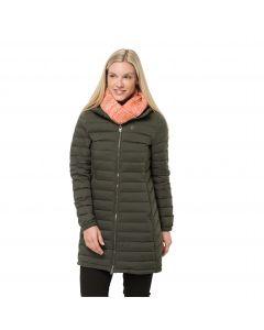 Płaszcz puchowy damski GLOWING MOUNTAIN COAT W Bonsai Green
