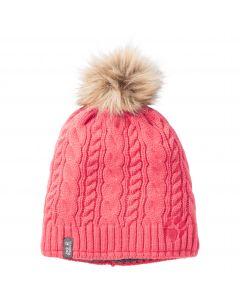 Czapka dla dziewczynki GIRLS SNOWBIRD CAP coral pink