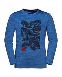 Dziecięca koszulka VARGEN LONGSLEEVE KIDS coastal blue