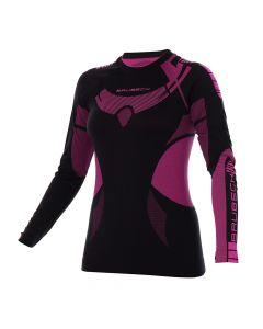 Koszulka DRY WOMEN LS13070 black/amaranth