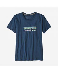 Damski T-shirt Patagonia Pastel Logo Organic stone blue