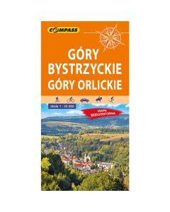 Mapa turystyczna Compass GÓRY BYSTRZYCKIE, GÓRY ORLICKIE 1:35 000 laminowana