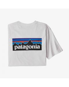 T-shirt Patagonia P-6 Logo Pocket Responsibili-Tee gravel white