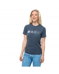 T-shirt damski NATURE RELIEF T W Dark Slate