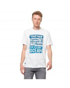 Koszulka z krótkim rękawem męska SEA GROUND T M White Rush