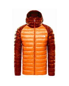 Kurtka puchowa The North Face  TREVAIL HOODIE red orange/burnt ochre