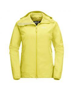 Damska kurtka przeciwdeszczowa SIERRA PASS JACKET lemon