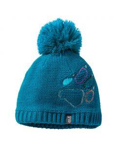Czapka PAW KNIT CAP KIDS dark turquoise