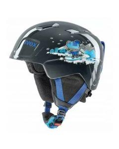 Kask narciarski dla dziecka UVEX MANIC black snow dog 46-50 cm