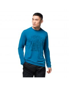 Koszulka z długim rękawem CROSSTRAIL PEAK LONGSLEEVE M blue pacific
